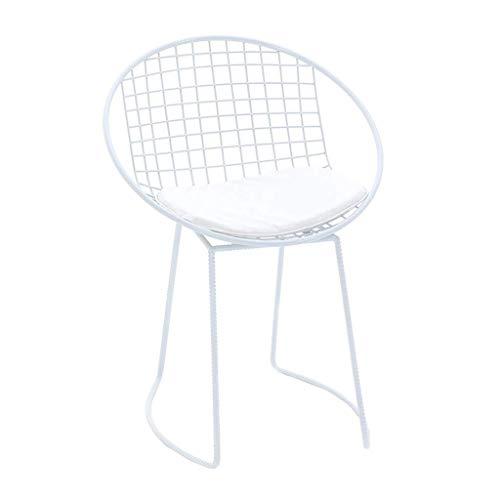 WSDSX Silla de Comedor, sillón apoyabrazos, Trona, Taburete Sillas Sillas de Comedor Vestir Sillas de Ocio Estructura de Metal Tapizado Cojines de Piel sintética Suave Sala de Estar