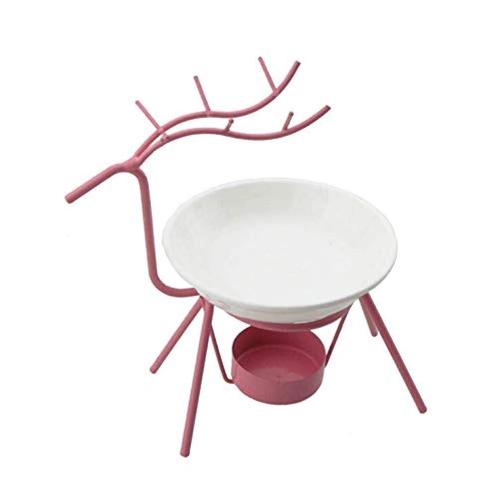 テーブルを設定する子猫粘り強いTakefuns 鹿の形のオイルバーナーキャンドルホルダーアロマセラピーオイルランプ装飾リビングルームバーナー