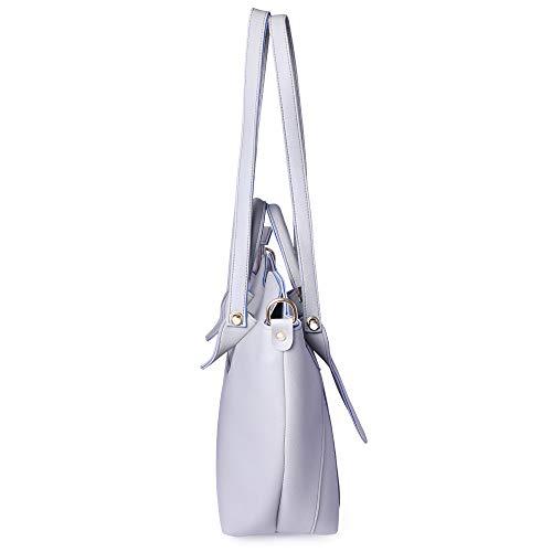 Shining Star Women's Handbag With Sling Bag & Clutch (Set of 3) (SHIP-GREY CL)