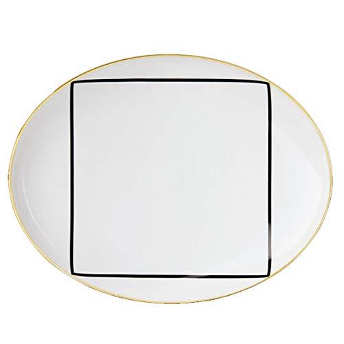 Fürstenberg Sieger by Teller, Fischteller, Teller oval - Ca' D'oro - Porzellan - Maße (ØxH): 31,5 x 3,3 cm