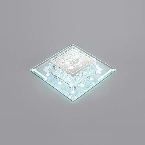 GLBS 12W Einfachheit Moderne Kreativität, Quadratisch, LED Down Wohnzimmer Eingang Korridor Einbauleuchten Kristallglas-Home Business Deckenverkleidung-Licht (Color : White Light, Size : 12W)