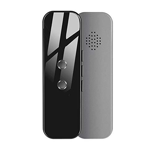 Dispositivo de traducción de idiomas Marlon Nancy, dispositivo de traducción de voz inteligente de bolsillo compatible con 70 idiomas para viajes, aprendizaje, reuniones de negocios y reuniones (gris)