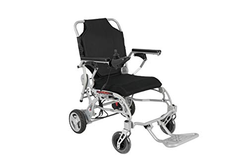 Porto Mobility Ranger X6 Super Lightweight 41 lbs Foldable Electric Wheelchair (Silver)