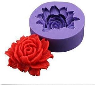 1 piece Mould Baking Cake Cookies Form Chocolate Soap Sugar Craft Cupcake 3D Rose Flower Fondant