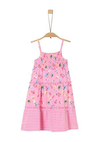 s.Oliver RED Label Mädchen Stufenkleid mit Smok-Detail pink AOP 104.REG