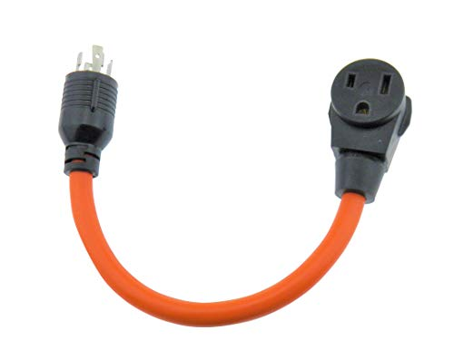 MPI Tools Nema L14-30P to 6-50R Generator Power Cord Welder Adapter 3 Wire 125/250v 18 Inches Long