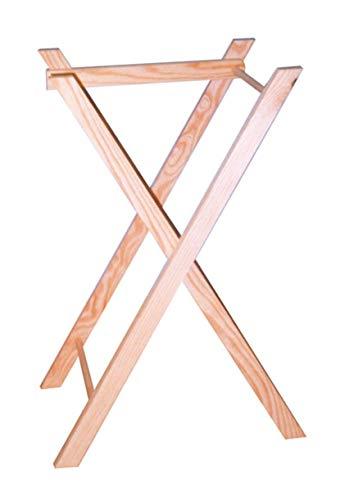 Patas tijera para bandeja. Plegalbes. En madera de pino macizo natural. Se puede pintar. Medidas (ancho/alto): 39 * 62 cms