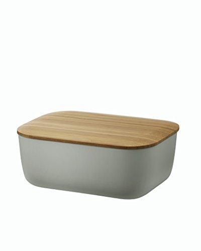 RIG-TIG Butterdose BOX-IT, Dunkelblau mit Deckel aus Bambus/Melamin