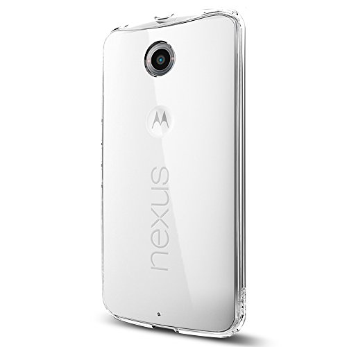 Spigen Ultra Hybrid Nexus 6 Case with Air Cushion Technology and Hybrid Drop Protection for Google Nexus 6 2014 - Crystal Clear