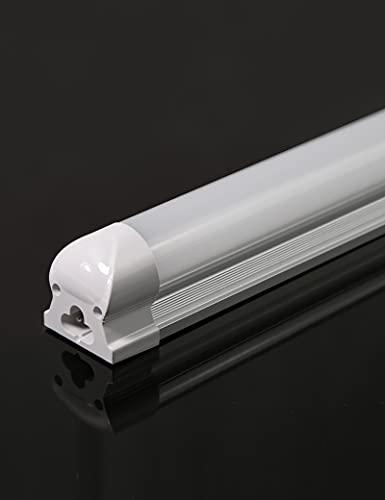 Atlaz LED Röhre 150cm Leuchtstoffröhre komplett mit Fassung, 23W 2100lm 3000K Warmweiß, T8 LED Tube Röhrenlampe, durchverdrahtet und erweiterbar, Milchige Abdeckung