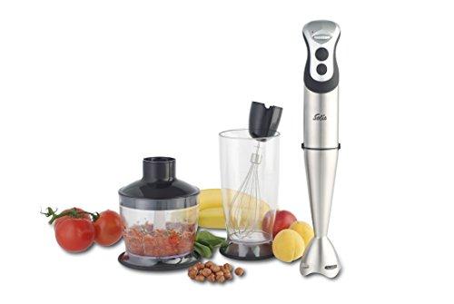 Solis 921.31 Staafmixer, pureerstaaf, garde, hakcontainer, mix- en maatbeker, koude/hete gerechten, Power Mixer Pro