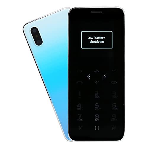 Deansh Mini Tarjeta para teléfono Celular, Ultraligera, Doble Tarjeta, Doble Modo de Espera, portátil, Mini Tarjeta, teléfono móvil, Color Degradado, teléfono Celular, Control táctil(Light Blue)