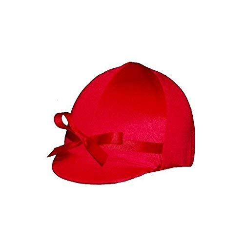 Equestrian Riding Helmet Cover - Red