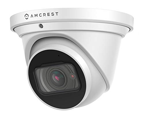 Amcrest 4K Optical Zoom IP Camera, Motorized Lens, 8MP Outdoor POE Camera Dome, 4X Optical Zoom Security Camera Turret, 2.7mm~12mm Lens, IP67 IK10 Vandal Resistant, Built-in Mic, (IP8M-MT2544EW)