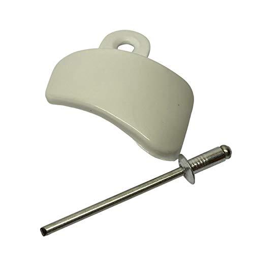 Staande Mixer Headlock in Wit WP3184262 met Fixing Rivet. Compatibel met Kitchenaid 4.5QT Tilt Head Mixers.