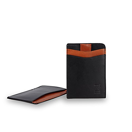Beau Slim Leather Rfid Card Sleeve Eco Friendly Leather Gift Boxed Zoomlite Multicolored