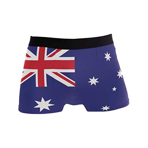 ZZKKO Herren Boxershorts mit Australien-Flagge, atmungsaktiv, Stretch, mit Tasche, S-XL - Blau - Small