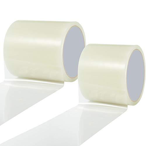 BBTO 2 Rollen Reparaturbänder Stoff und Vinyl Reparaturbänder Wasserdichtes Transparentes Patchband Klares Zelt Reparatur Band für Wohnmobil, 2,8 Zoll x 32,8 ft und 3,9 Zoll x 32,8 ft