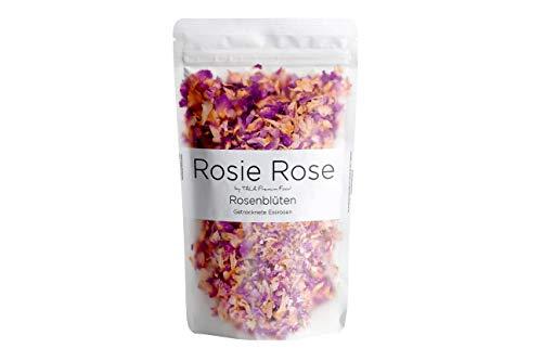 Rosie Rose - Getrocknete Rosenblütenblätter aus natürlichem Anbau - Essblüten - Teeblüten -Rosenblütentee - Damaszener Rosen 25g