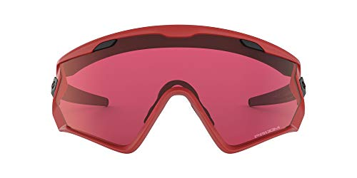 Oakley Men's OO9418 Wind Jacket 2.0 Shield Sunglasses, Viper Red/Prizm Snow Torch, 45 mm