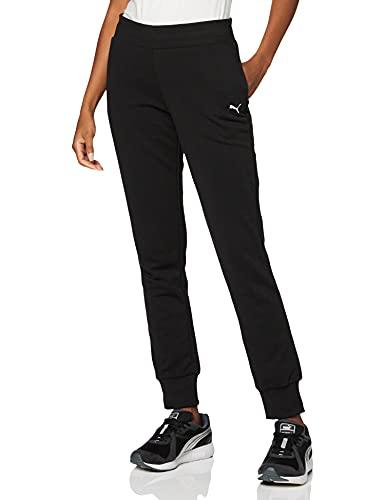 PUMA ESS Sweat Pants TR cl Pants, Mujer, Cotton Black-Cat, L