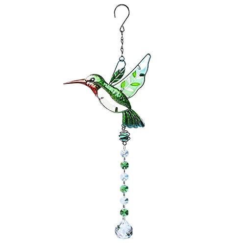 liuwei Colgante con diseño de pájaro de libélula con colgante de perlas coloridas para colgar en la gota