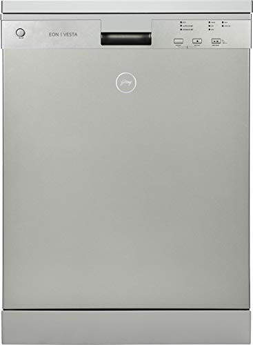 Godrej Eon Dishwasher | 12 place setting | Perfect for Indian Kitchen| Turbo Drying Technology | Intensive 65°C Wash programme|A++ Energy rating|DWF EON VES 12U NF STSL- Satin Silver