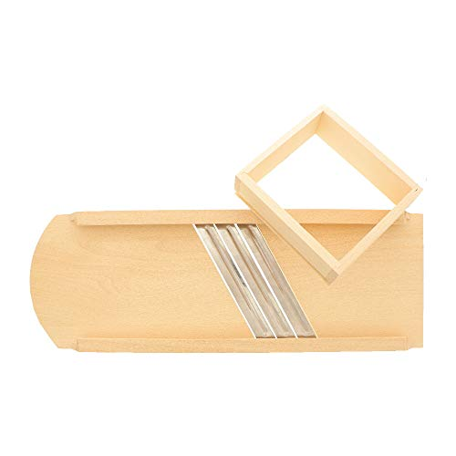 HOFMEISTER® Krauthobel aus Holz, zur Herstellung von Sauerkraut und Rotkraut, scharfe Klingen schneiden alle Krautköpfe und Gemüsesorten, sicher und einfach durch beweglichen Schlitten, solider Gemüsehobel aus Buchenholz hergestellt in Europa, 55 x 18,5 x 8 cm (1 Stück)