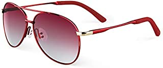 NALANDA Women's Round Polarized Aviator Sunglasses With UV400 HD Lens Metal Frame, Double Bridges Glasses For Outdoor Trav...