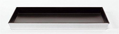Pentool Agnelli gebak en pizza bakplaat rechthoekig in legering 3003 met anti-aanbaklaag, aluminium, 45 x 35 x 3 cm