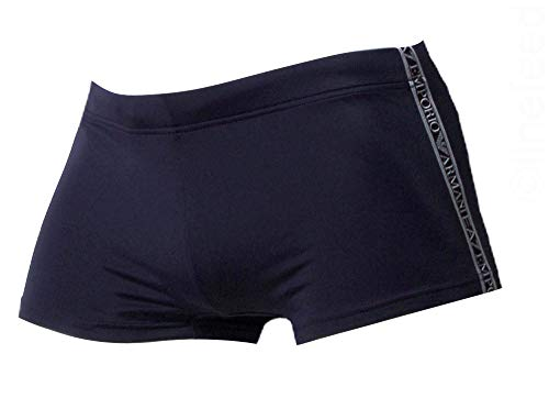 Emporio Armani Herren Sea World Swimwear Premium Trunks Badehose, Marineblau, Large