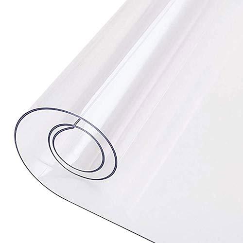 FXDCQC Bodenschutzmatte, Transparent BüRostuhl Unterlage, PVC Round Transparent Table Cover Dinning, Transparente öKologische PVC-Tischdecke, Esszimmer/BüRo(3mmdiameter 140cm/55.12in)