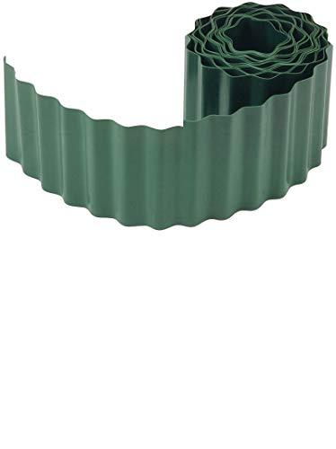 Connex Flexible Rasen- und Beeteinfassung - grün - 9 m Länge & 15 cm Höhe - Aus schlagfestem Kunststoff - Einfach zu montieren - Zuverlässige Wurzelsperre / Rasenkante / Beetbegrenzung / FLOR14215