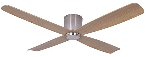 Lucci Air Fraser Ventilateur de plafond en métal brossé Chromé 35 W 132 cm
