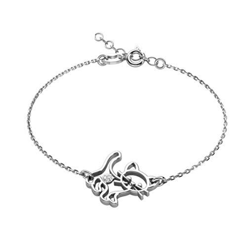 butterfly Filles Bracelet en Argent Sterling 925 Chat Clair Longueur Réglable Emballage Cadeau...