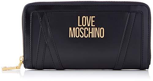 Love Moschino JC5646PP0BKS0, Portafogli Donna, Nero, Normale