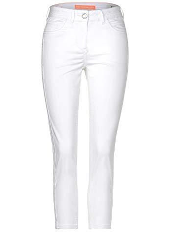 Cecil 373018 Vicky 24 inch Pantaloni, Bianco, W32/L24 Donna