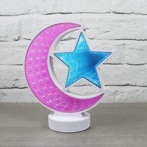 TopgadgetsUK Star and Moon Infinity Espejo Luz Karaoke Micrófono Altavoz Necesidad Sala