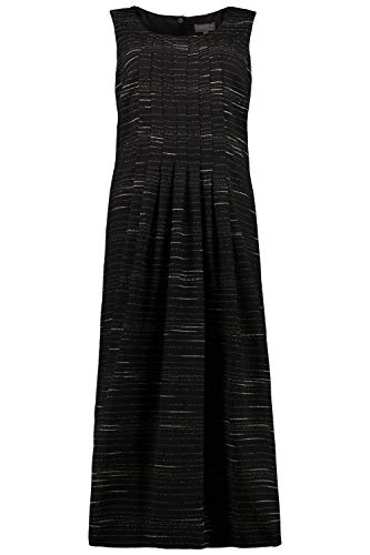 Ulla Popken Damen große Größen Streifenkleid schwarz 54 726221 10-54