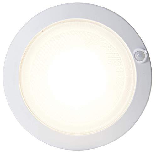 Northpoint LED Akku Sensorleuchte Deckenleuchte rund 18 cm Unterbauleuchte USB mit Bewegungsmelder/Dämmerungssensor 30s Timer Montagematerial