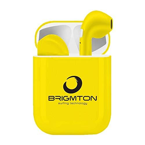 Auriculares inalámbricos amarillos - Bluetooth. Con estuche