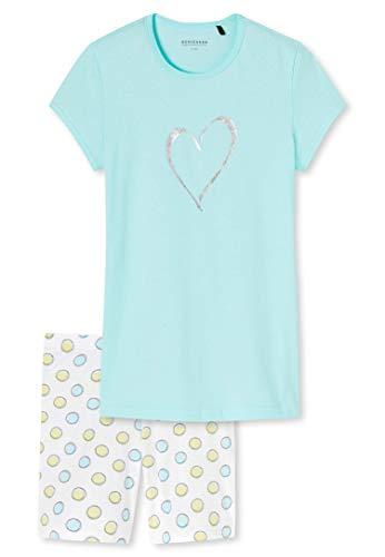 Schiesser Mädchen Anzug kurz Zweiteiliger Schlafanzug, Blau (Aqua 833), (Herstellergröße: 164)