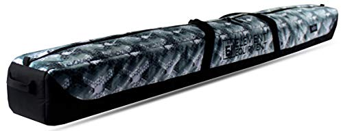 Element Equipment Deluxe Padded Ski Bag Single - Premium High End Travel Bag Diamond 175
