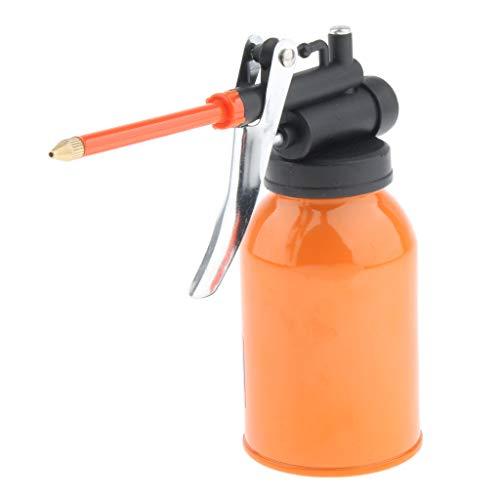 Homyl Bidon de Jet de Carburant de Pot de Carburant de Graisseur de Pompe à Main en Acier 250ml à Haute Pression pour Lubrifiants