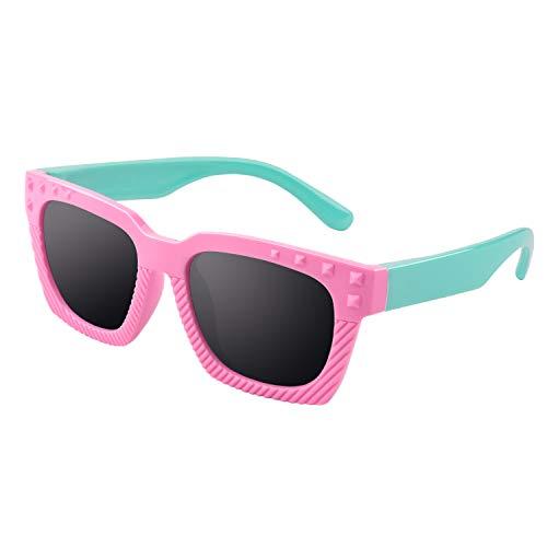 GQUEEN Gafas de sol polarizadas flexibles de goma para niños y infantes de 3-7 años de Edad, ET18