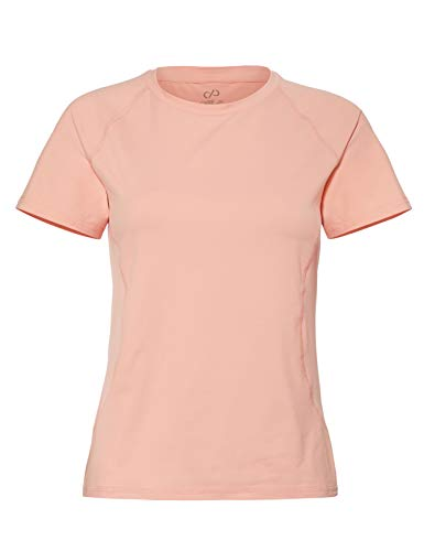 CARE OF by PUMA Camiseta de entrenamiento de manga corta para mujer, Rosa (Peach Bud), 40, Label: M