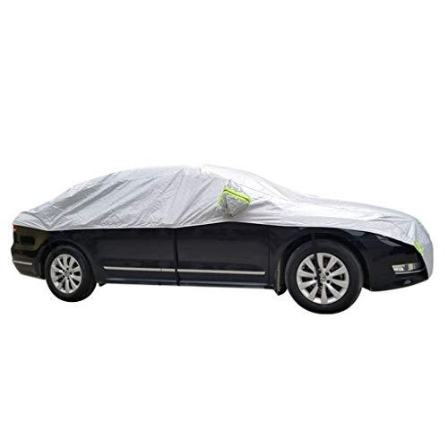 Coche Ropa de automóvil, capota Coche Capota Techo Parasol Protección solar Aislamiento Impermeable Protección contra la nieve Medio vestido (Color : Silver-A)