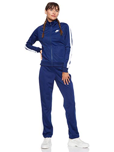 Nike Damen W NSW PK OH Tracksuit, Blue Void/White, L