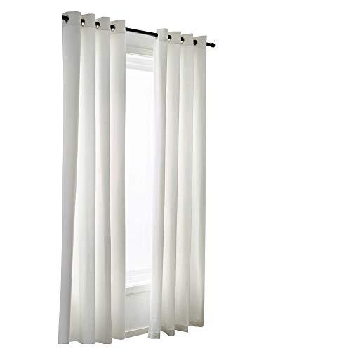 Rajlinen - Cortina de 2 paneles de color marfil 100 % algodón, muy gruesa, para ventanas, cortinas, cortinas, cortinas, paneles y tratamientos de todos los tamaños disponibles (marfil)