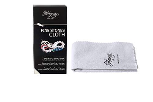 Hagerty Fine Stones Cloth Schmuckputztuch, Imprägniertes Schmucktuch aus Baumwolle, Weiß (36 x 30 cm)